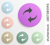 refresh sign badge color set....