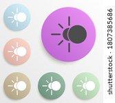 eclipse badge color set. simple ...