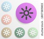 sun badge color set. simple...