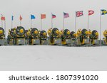 Snowmaking Devices On Top Of A...