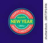 happy new year and merry... | Shutterstock .eps vector #1807391446