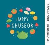 happy chuseok greeting card...   Shutterstock .eps vector #1807394299