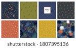 trendy seamless patterns set.... | Shutterstock .eps vector #1807395136