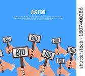 auction bidding. potential... | Shutterstock .eps vector #1807400386