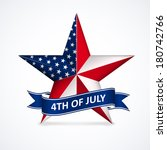 independence day with star in... | Shutterstock .eps vector #180742766