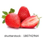 strawberry isolated on white... | Shutterstock . vector #180742964