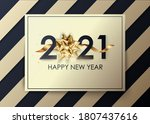 christmas and new year 2021... | Shutterstock .eps vector #1807437616