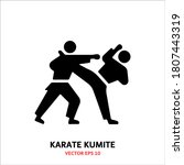 Karate Kumite Icon Isolated...