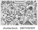mexico doodle set. collection...   Shutterstock .eps vector #1807450309