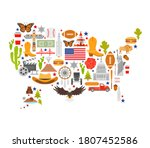 usa map silhouette made from... | Shutterstock .eps vector #1807452586