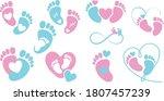 Set Of Footprint  Vector...