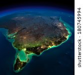 highly detailed earth ... | Shutterstock . vector #180745994