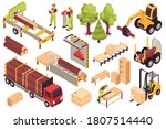 isometric wooden furniture... | Shutterstock .eps vector #1807514440