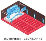 isometric conference hall... | Shutterstock .eps vector #1807514443