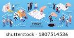 isometric dismissal... | Shutterstock .eps vector #1807514536