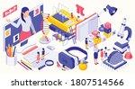 stem education isometric design ... | Shutterstock .eps vector #1807514566