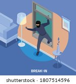 robbery isometric composition...   Shutterstock .eps vector #1807514596