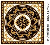 golden decorative baroque... | Shutterstock .eps vector #1807517410