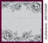 flower pattern for scarf and... | Shutterstock .eps vector #1807520689