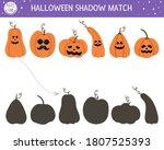 halloween shadow matching... | Shutterstock .eps vector #1807525393
