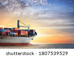 Container Cargo Ship In The...