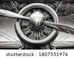 Close Up Of An Radial Engine Of ...