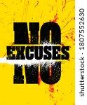 no excuses. inspiring sport... | Shutterstock .eps vector #1807552630