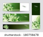 vector banners with lily... | Shutterstock .eps vector #180758678
