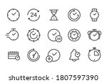 time  clock  stopwatch icons....   Shutterstock .eps vector #1807597390