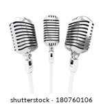 retro microphones. isolated on... | Shutterstock . vector #180760106
