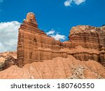 Chimney Rock  A Red Cliff Of...