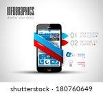 original style infographics... | Shutterstock .eps vector #180760649