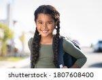 Portrait Of Happy Indian Girl...