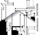 circuit board illustration ... | Shutterstock .eps vector #180760988