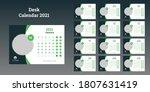 desk calendar 2021 template... | Shutterstock .eps vector #1807631419