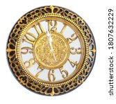 Clock With Gold Decoration On A ...