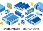 warehouse industry with storage ...   Shutterstock .eps vector #1807647046