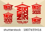 new collections 2021 year... | Shutterstock .eps vector #1807655416