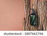 Green Glass Bottle Of Shampoo ...