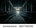Dark Concrete Cable Tunnel Is...