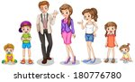 illustration of a big family on ... | Shutterstock .eps vector #180776780