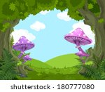 fantasy landscape with... | Shutterstock .eps vector #180777080