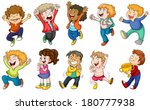 illustration of the happy kids... | Shutterstock .eps vector #180777938