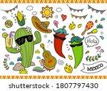 set of cute cartoon... | Shutterstock .eps vector #1807797430