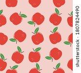 fruit pattern. seamless pattern ...   Shutterstock .eps vector #1807824490