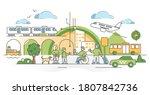 public transport traffic in... | Shutterstock .eps vector #1807842736