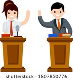 presidential debate. dialogue... | Shutterstock .eps vector #1807850776