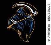 vector of grim reaper mascot... | Shutterstock .eps vector #1807860379