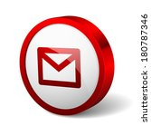 red round button with mail icon | Shutterstock .eps vector #180787346