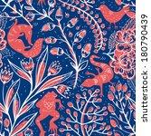 vector floral seamless pattern... | Shutterstock .eps vector #180790439